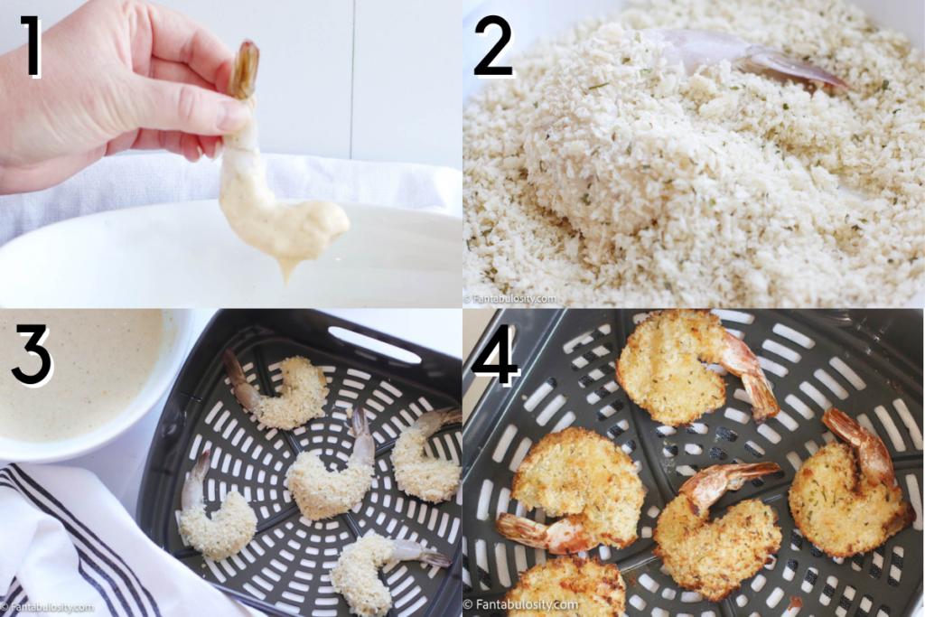 Directions for air fryer fried shrimp
