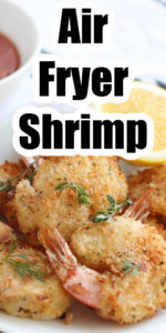 air fryer shrimp with text layer