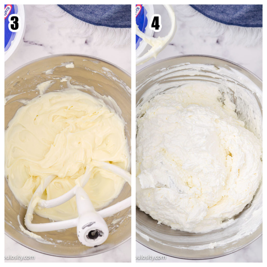 Whipped cream cheese and cool whip how-to for oreo dessert