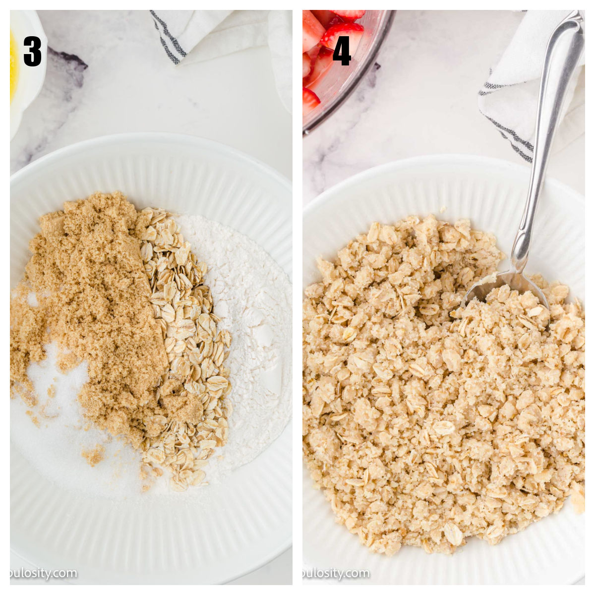 crumble topping for strawberry dessert recipe