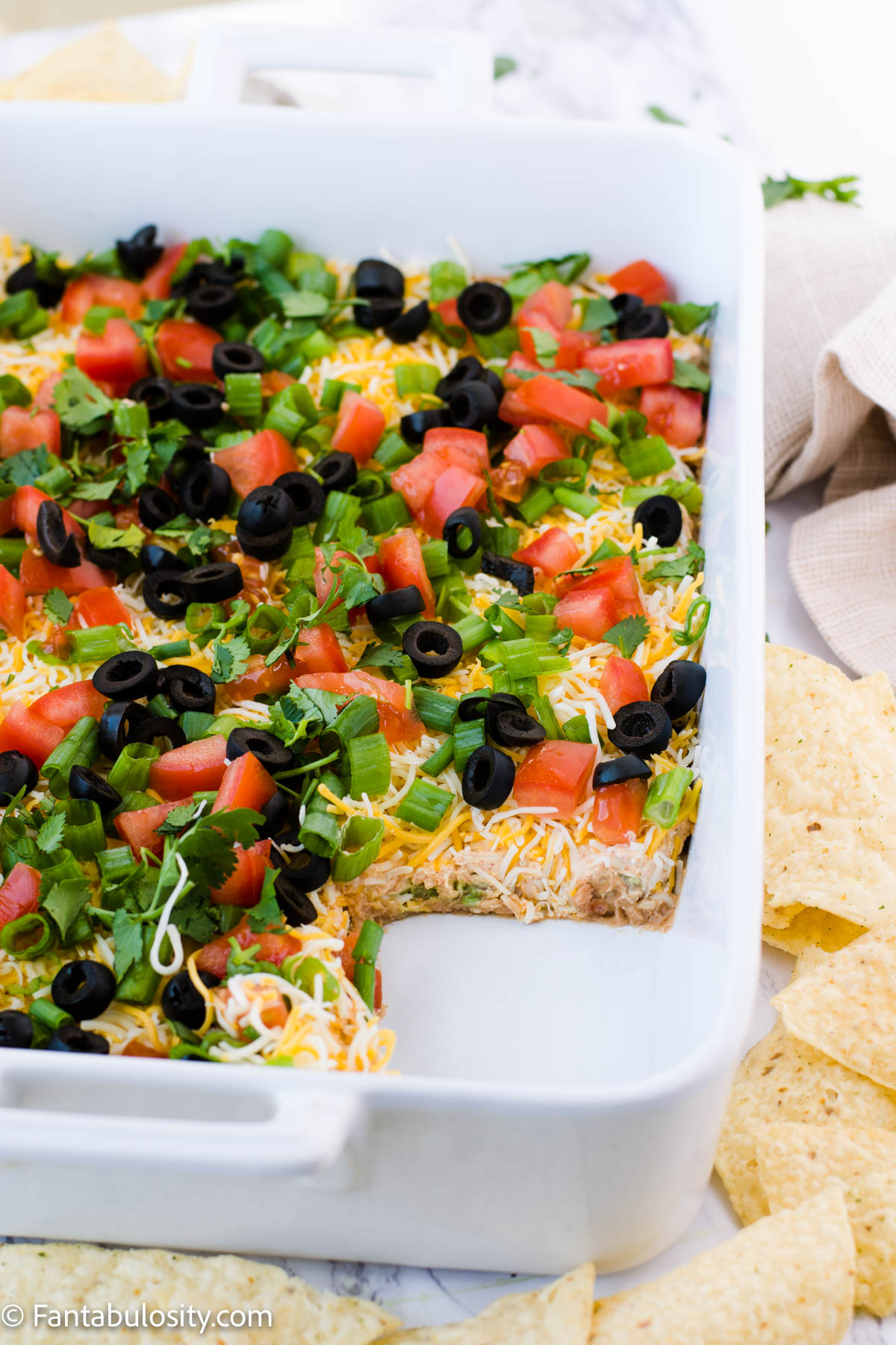 party appetizer - 7 layer taco dip