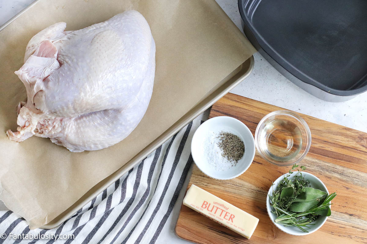 ingredients for cooking turkey breast in the air fryer