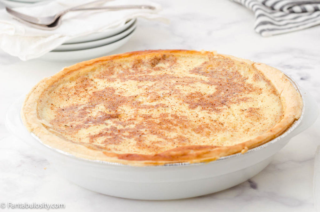 Egg custard pie from scratch