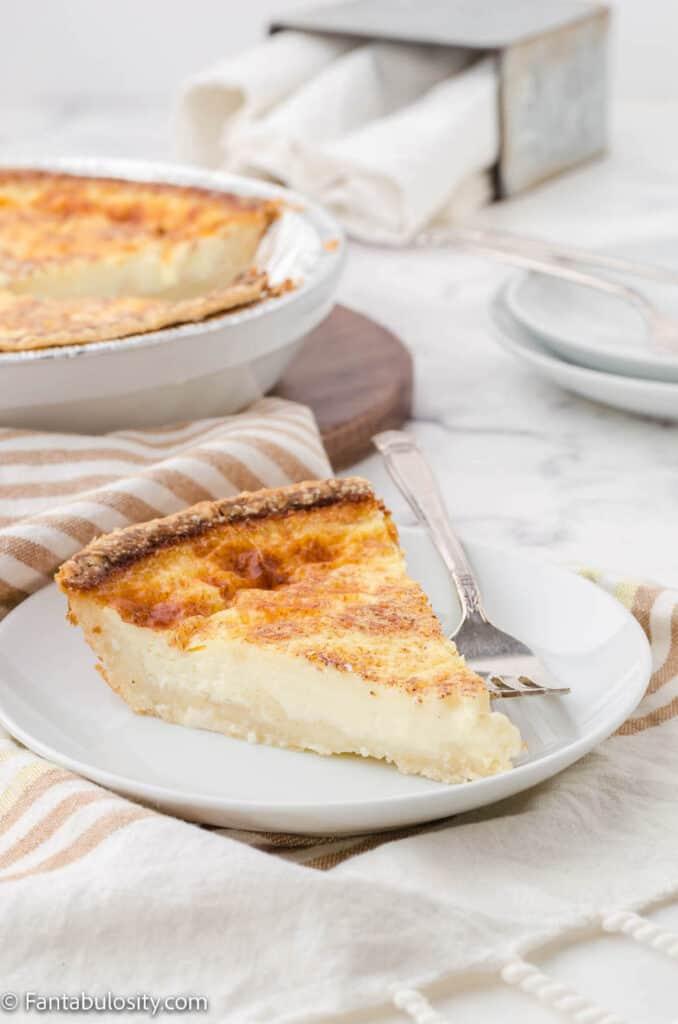 Egg custard tart pie