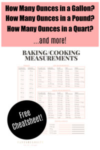 Free printable cheatsheet for conversions