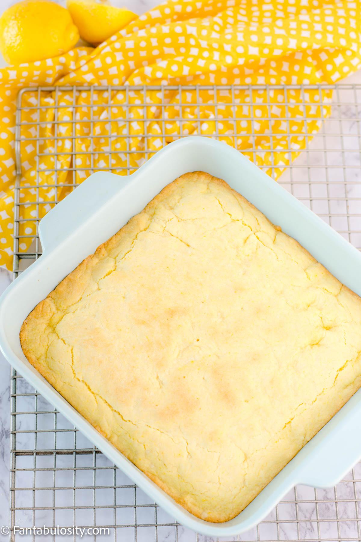 baked lemon brownies