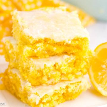 Lemon Brownies Recipe with cake mix