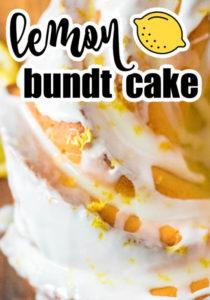 Lemon bundt cake recipe on pin for pinterest