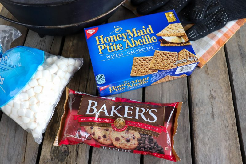 ingredients for smores cast iron