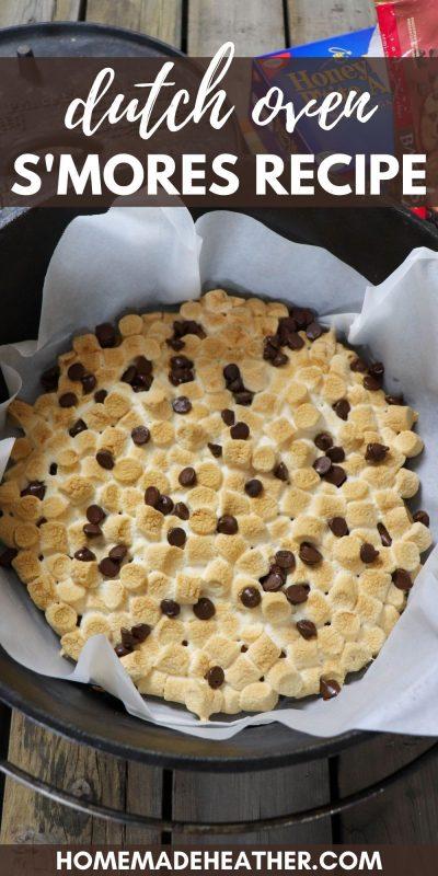 Dutch oven smores - camping dessert