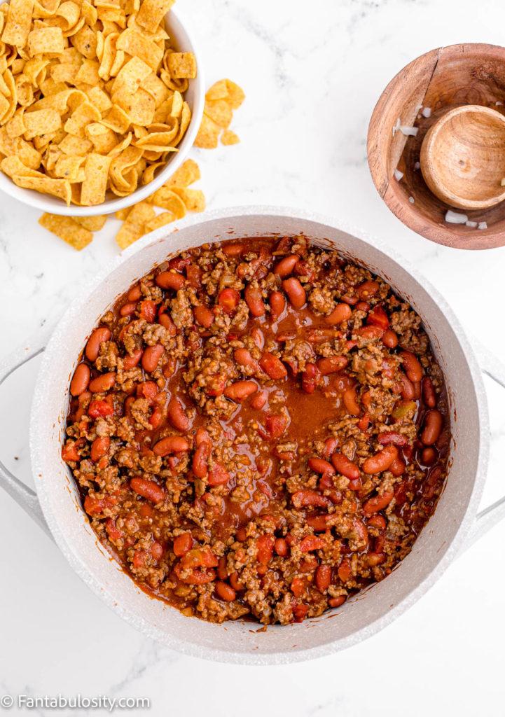 Chili Recipe in pot