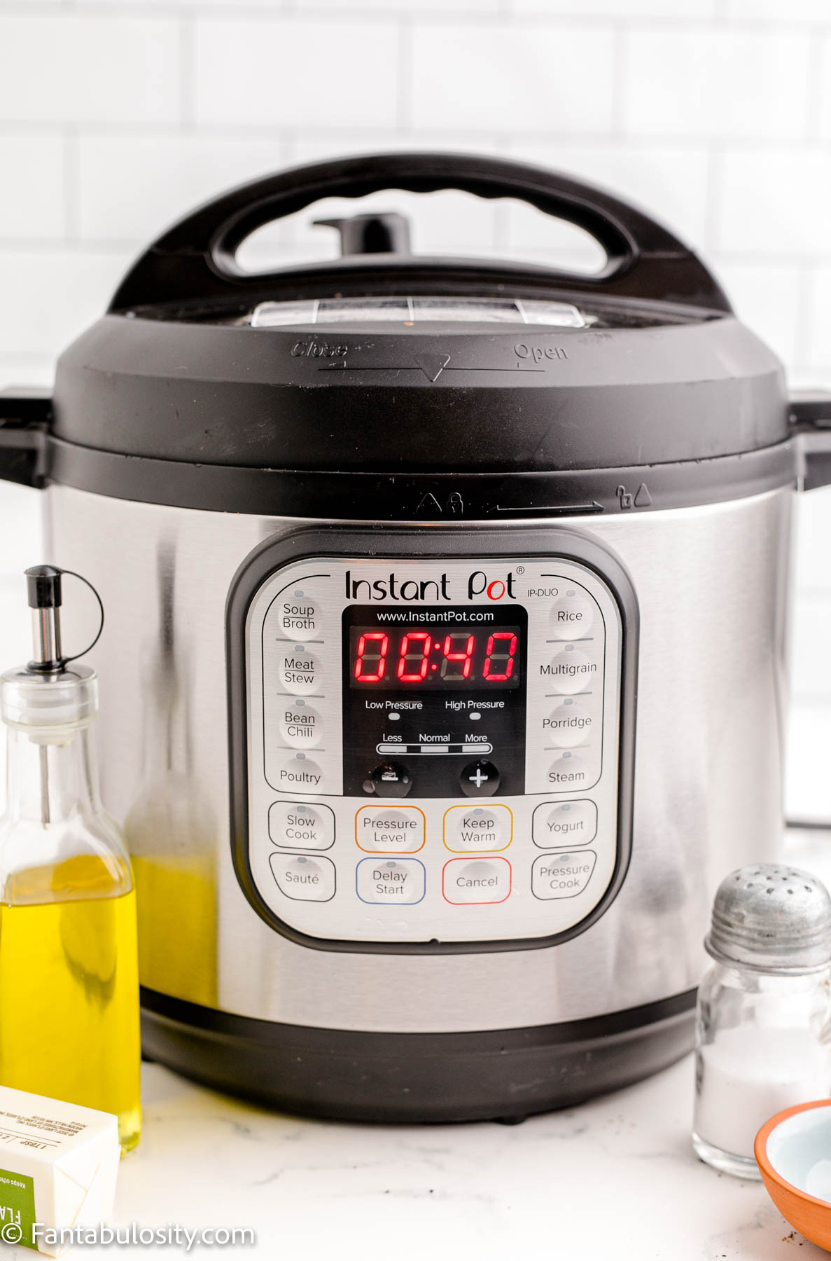 Set timer on Instant Pot to 40 minutes