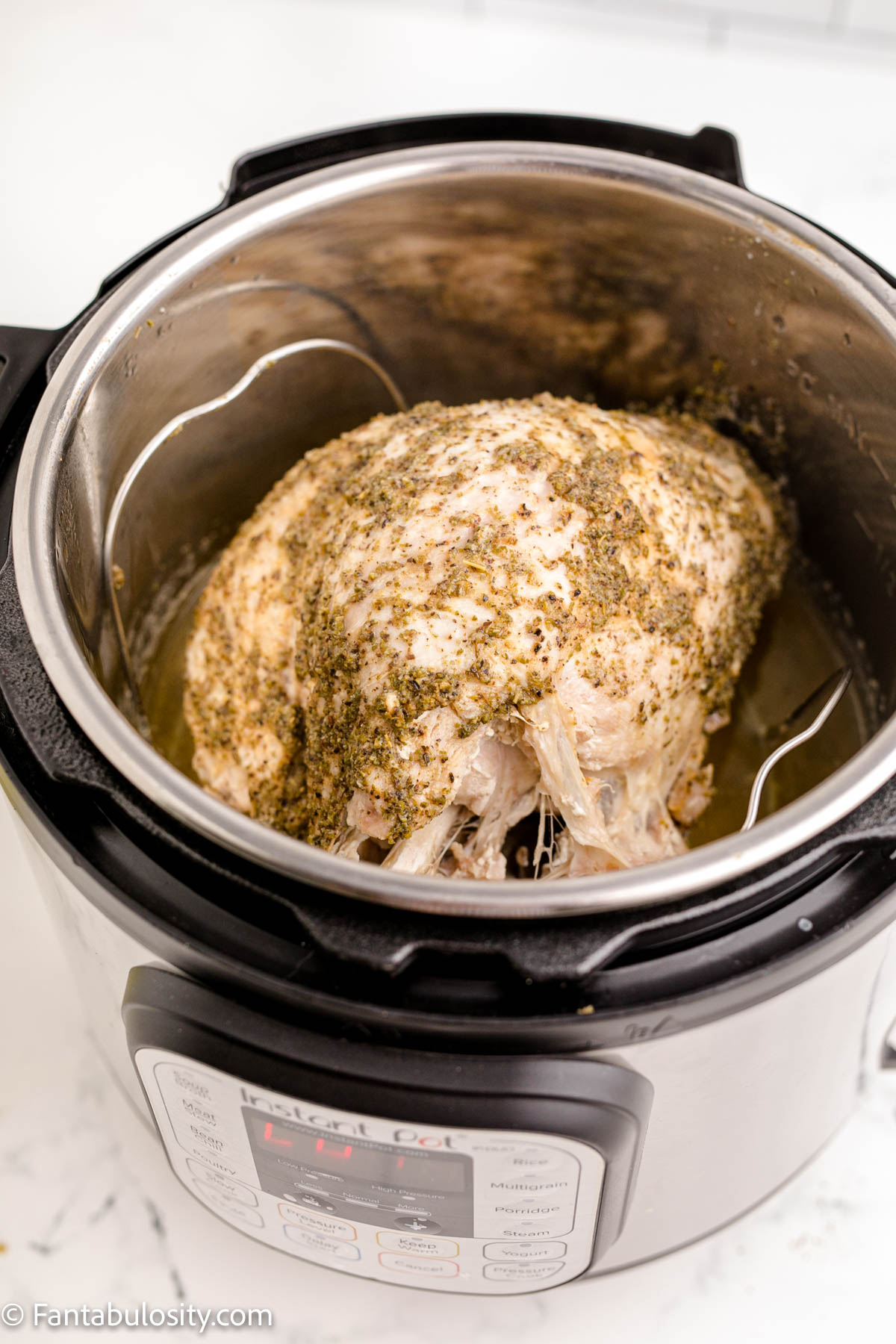 Cooked turkey breast in Instant Pot