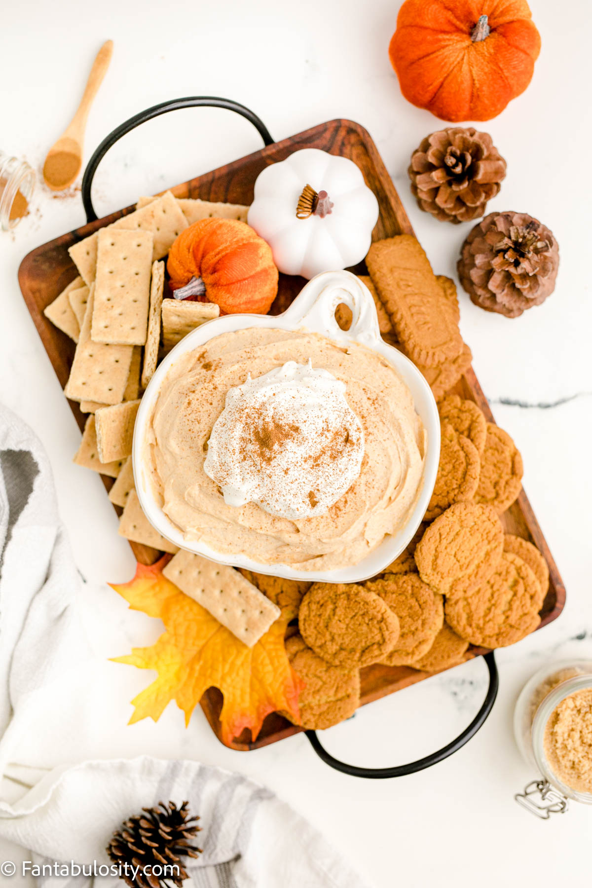Serve on a beautiful platter with crackers and cookies