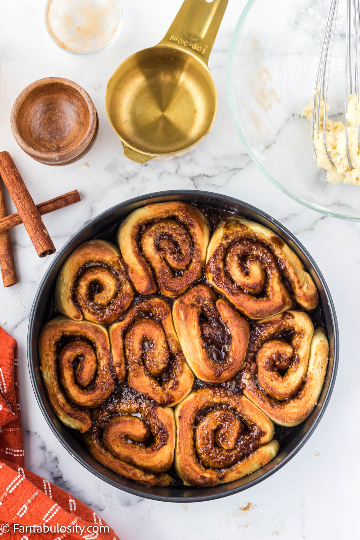 Cooked Air fryer cinnamon rolls