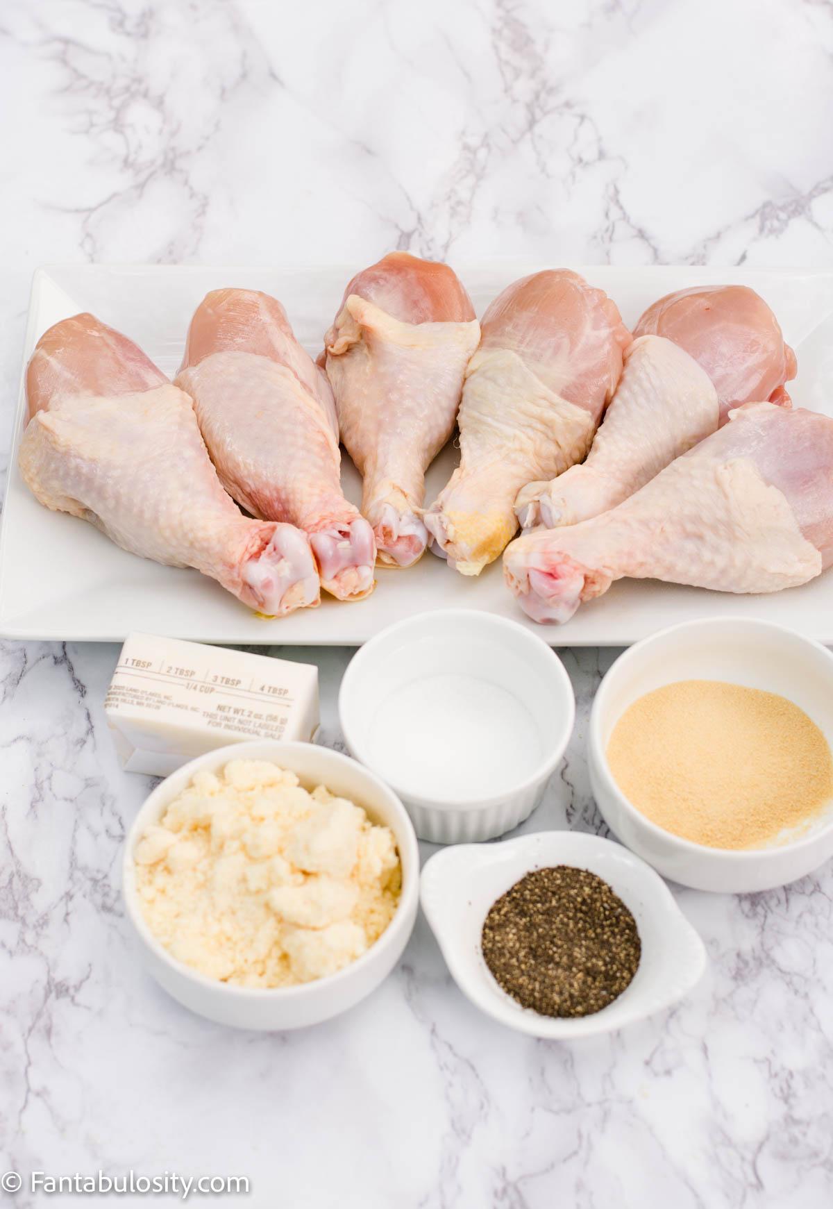 Ingredients for Chicken Drumsticks in Oven