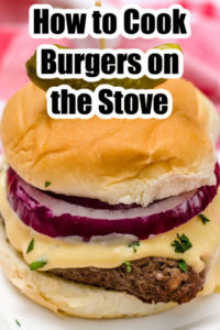 how to cook burgers on the stove