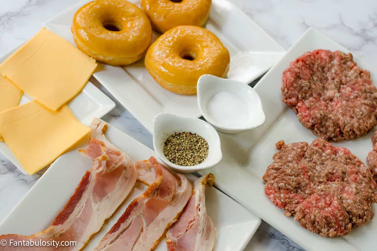 Donut Burger Ingredients for Cheeseburgers