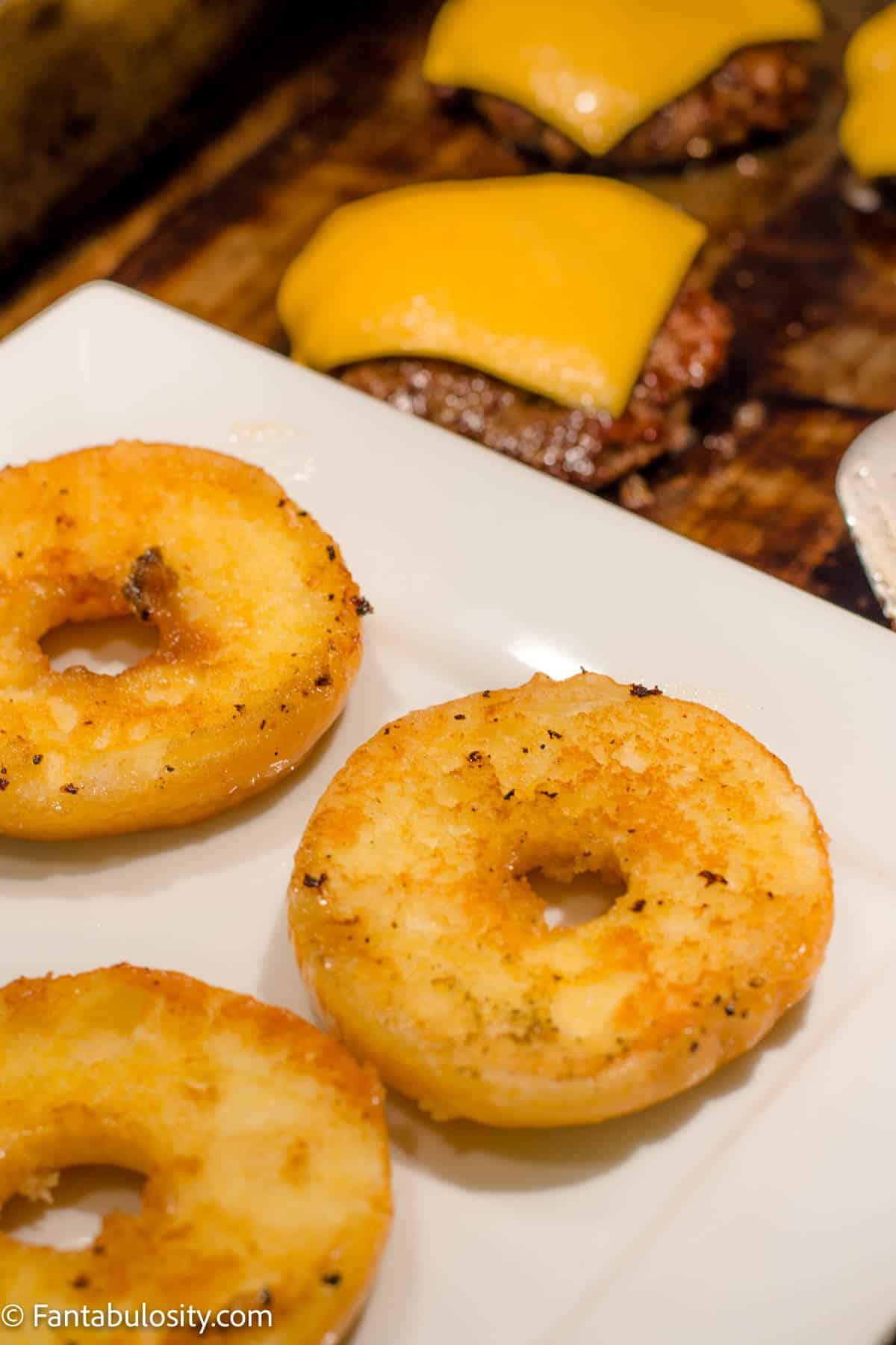 Toasted glazed donuts