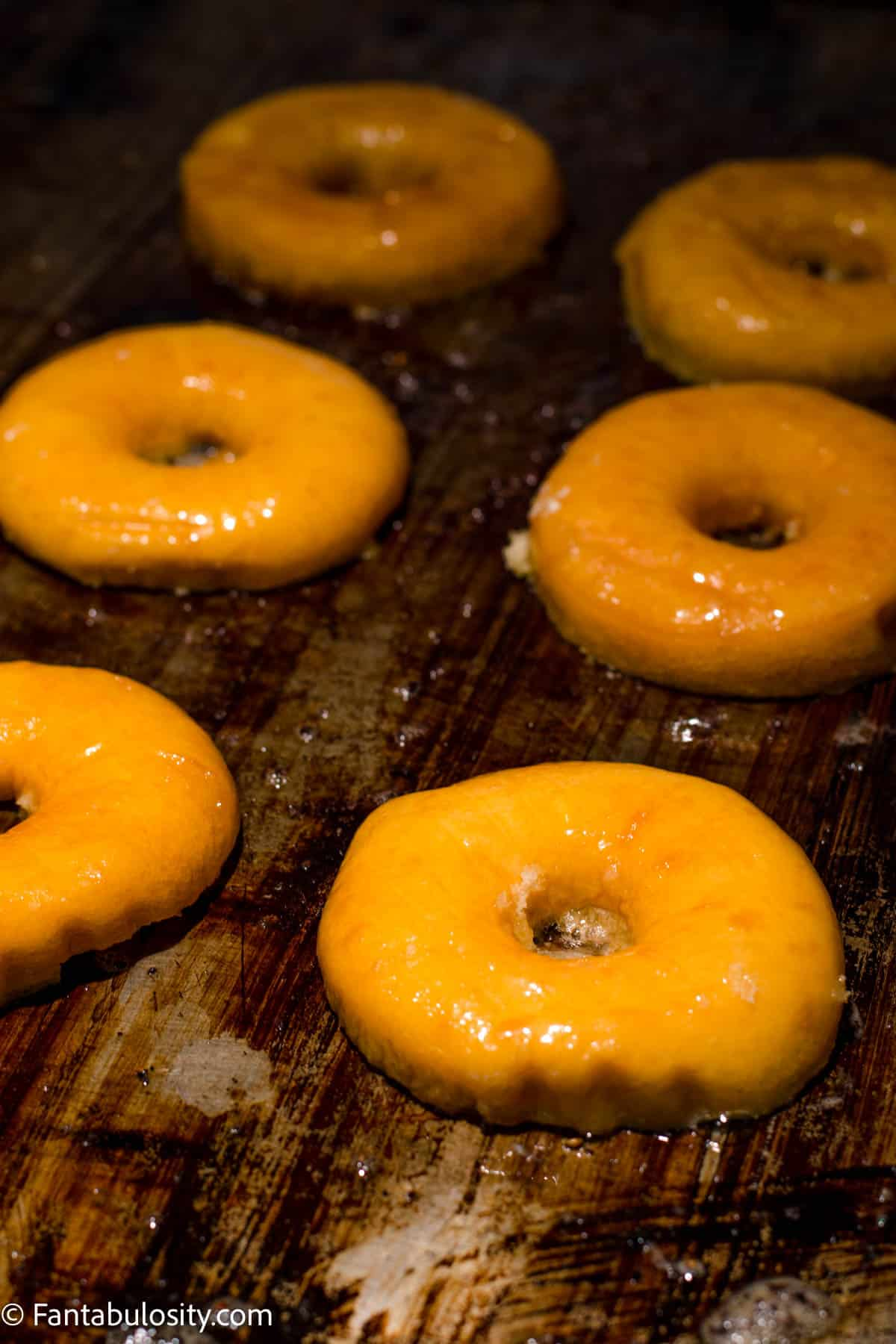 Cook buttered donuts